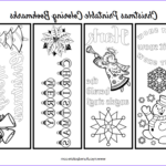 Free Printable Coloring Bookmarks Luxury Gallery Free Christmas Bookmarks To Color