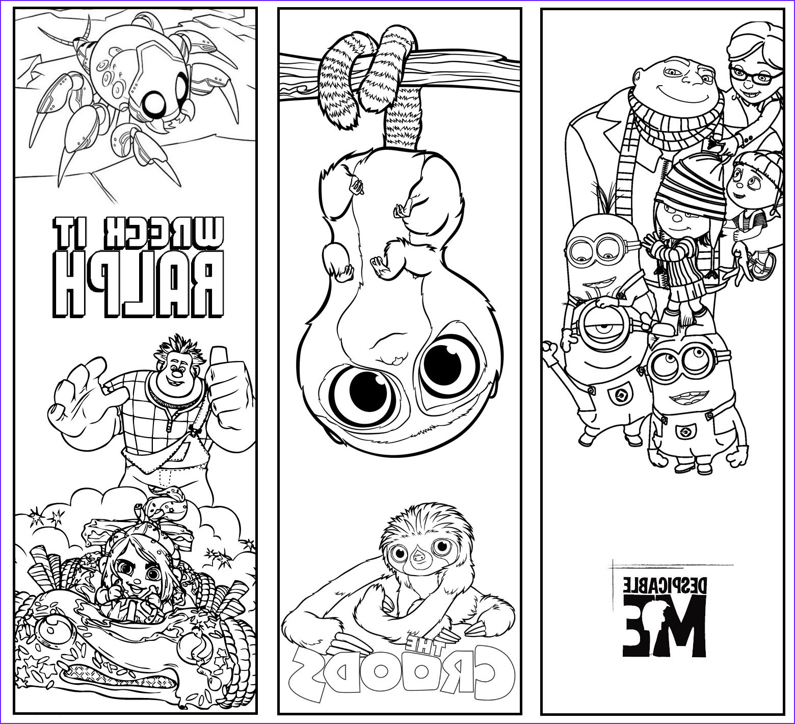 Free Printable Coloring Bookmarks New Gallery Wonderland Crafts Despicable Me