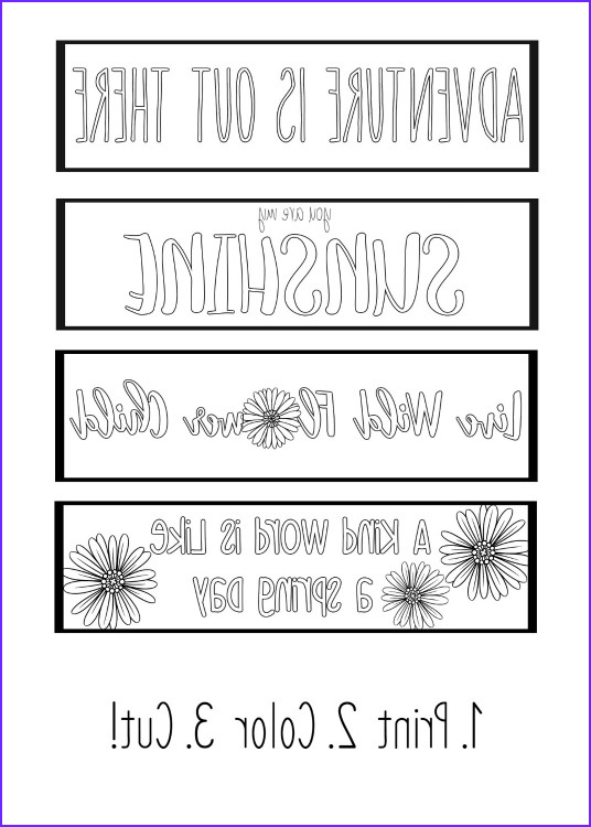 Free Printable Coloring Bookmarks New Photos Printable Spring Bookmarks Coloring Page Yellow Bliss Road