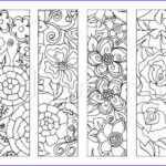 Free Printable Coloring Bookmarks New Stock 4 Flower Colouring Bookmarks Instant Download Printable