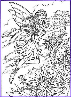 Free Printable Coloring Pages for Adults Fairies Beautiful Collection Detailed Coloring Pages for Adults