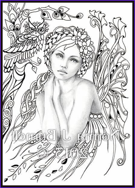 Free Printable Coloring Pages for Adults Fairies Luxury Image norma Burnell Blank Coloring Pages