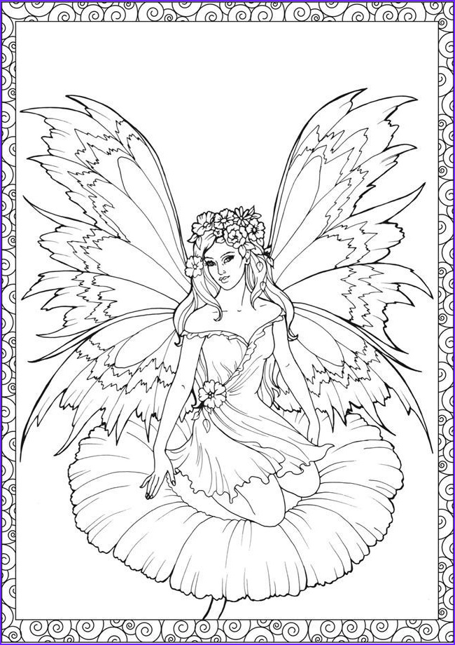Free Printable Coloring Pages for Adults Fairies Unique Image Pin by Coloring Fun On Fantasy