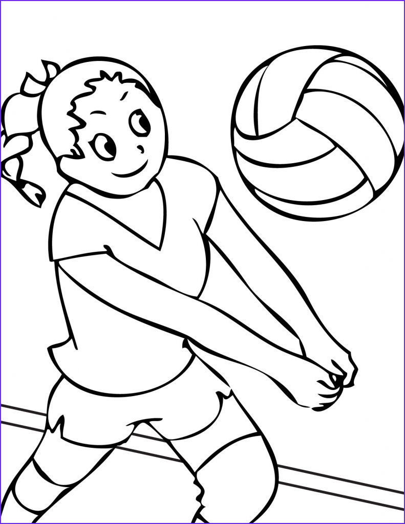 Free Printable Coloring Pages for toddlers Elegant Photography Free Printable Volleyball Coloring Pages for Kids