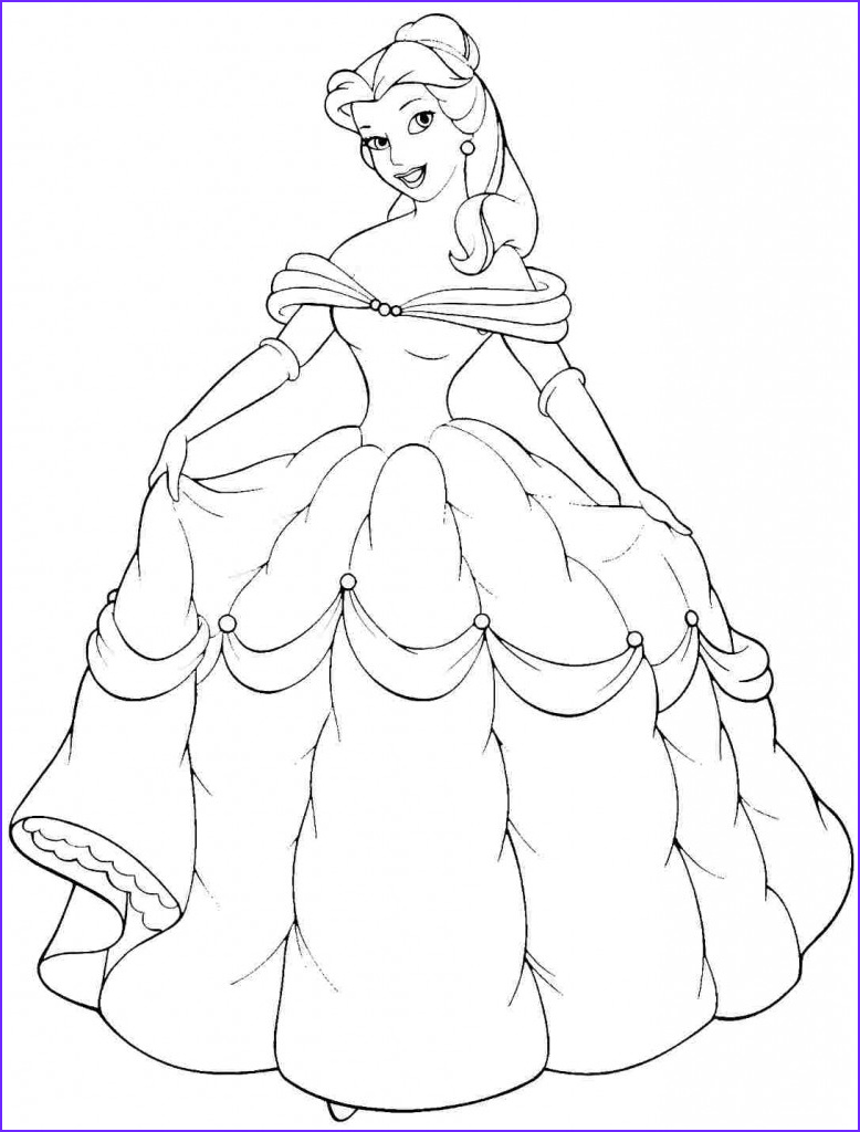 Free Printable Coloring Pages for toddlers New Photos Free Printable Belle Coloring Pages for Kids