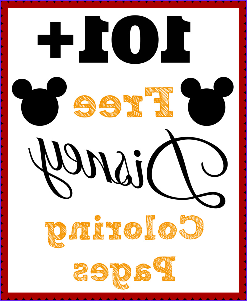 101 free printable disney coloring pages