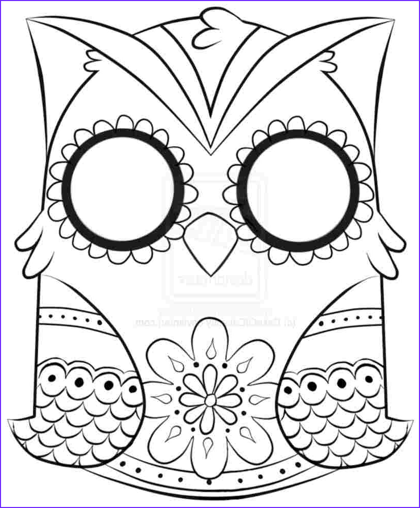 Free Printable Easy Adult Coloring Pages Beautiful Image Owl Coloring Pages for Adults