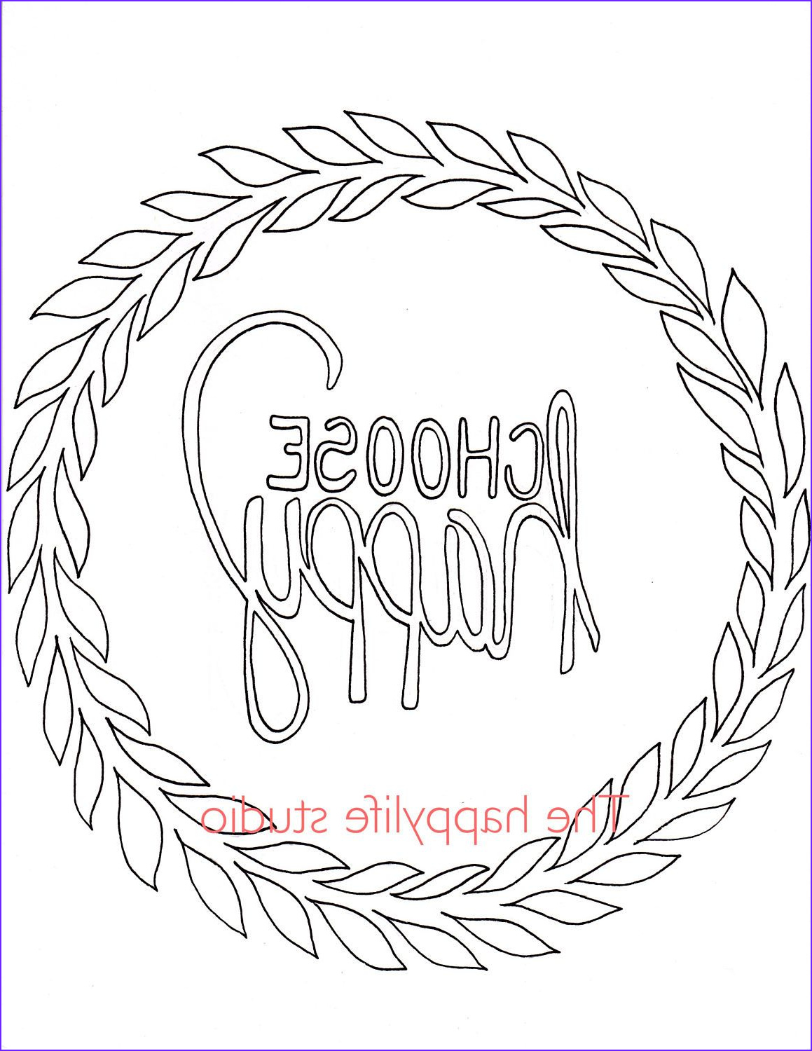 Free Printable Easy Adult Coloring Pages Beautiful Photography Choose Happy Coloring Page Simple Adult Coloring Page