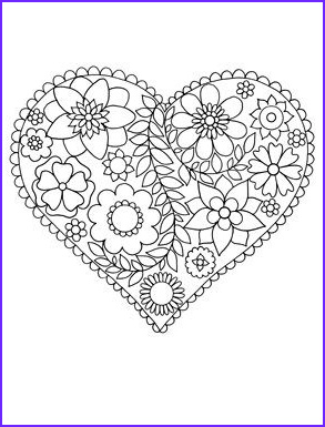 adult colouring hearts love zentangles