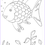 Free Printable Fish Coloring Pages Unique Stock Rainbow Fish Coloring Page