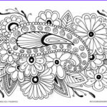 Free Printable Flower Coloring Pages For Adults Awesome Photos Premium Coloring Page 013 Pw D015