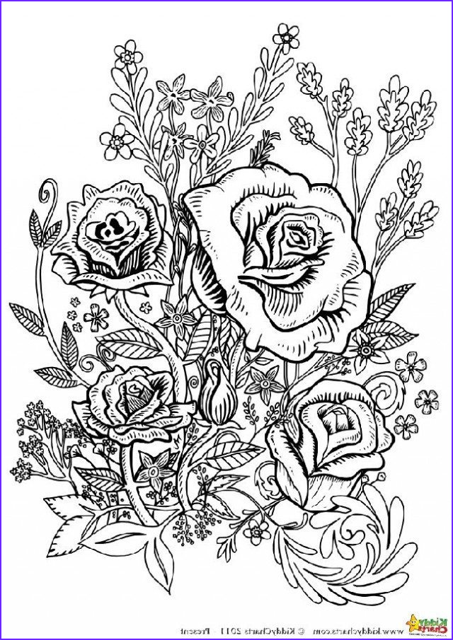 free flower coloring pages for adults