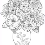 Free Printable Flower Coloring Pages For Adults Beautiful Stock Free Printable Flower Coloring Pages For Kids Best