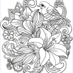 Free Printable Flower Coloring Pages For Adults Elegant Image Skylark And Flowers Coloring Page