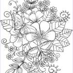 Free Printable Flower Coloring Pages For Adults Unique Gallery Butterflies On Flowers Coloring Page