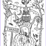 Free Printable Halloween Coloring Pages Adults Awesome Image 20 Fun Halloween Coloring Pages For Kids Hative