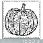 Free Printable Halloween Coloring Pages Adults Awesome Image Patterned Pumpkin Coloring Page For Adults Instant By Tocolor