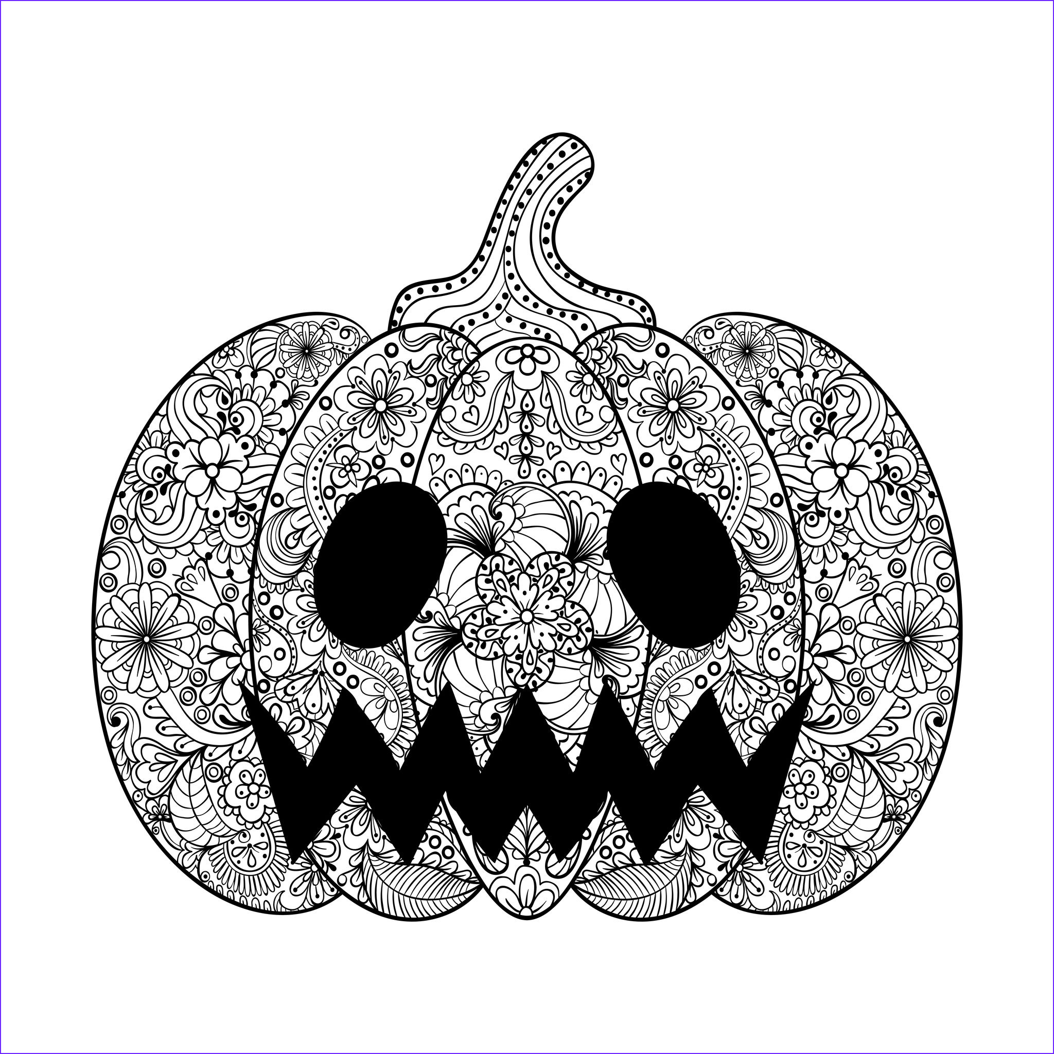 halloween adult coloring pages image=events halloween coloring adult halloween scary pumpkin by ipanki 1