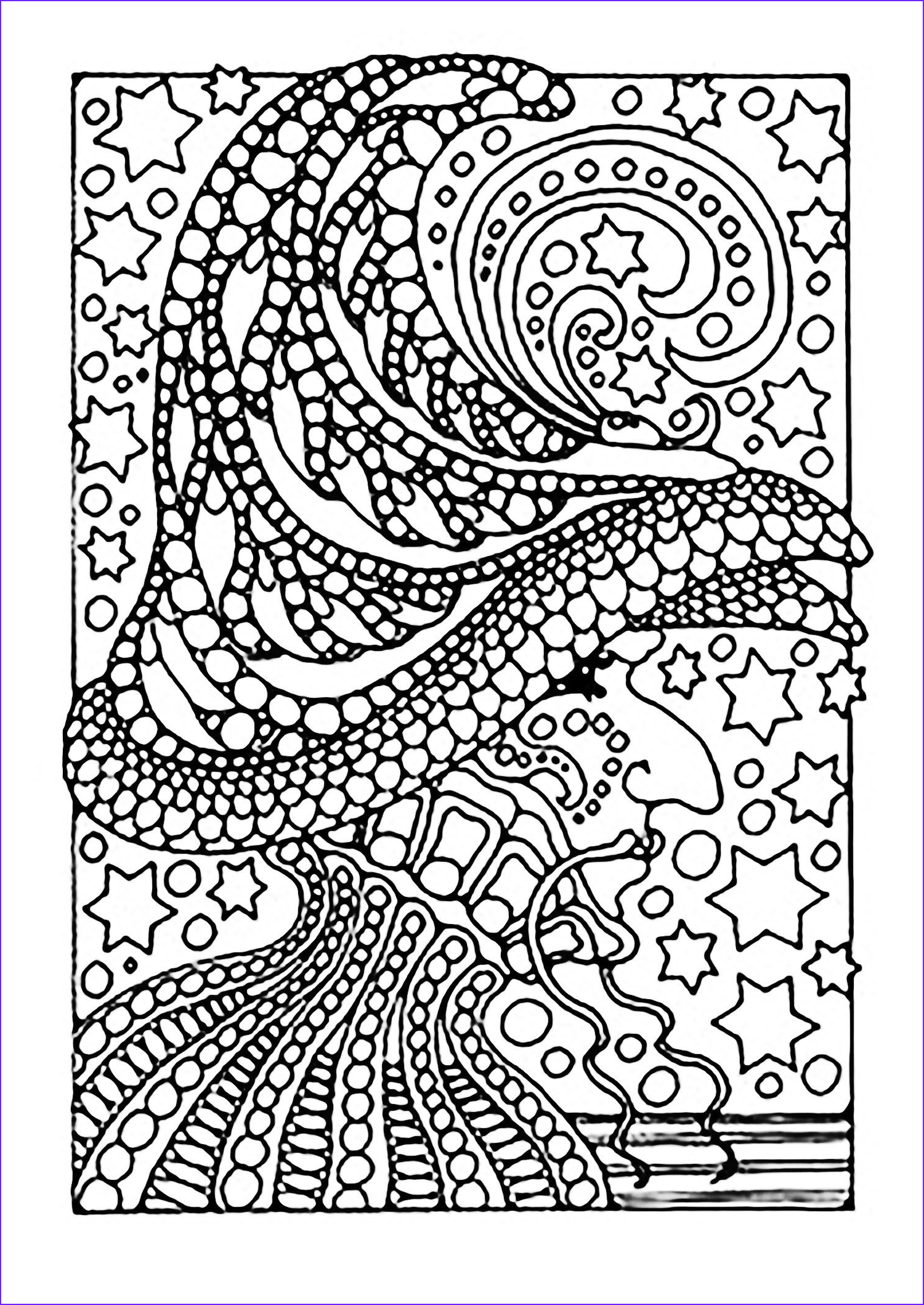 Free Printable Halloween Coloring Pages Adults Cool Photos A Scary Witch Color All these Stars From the Gallery