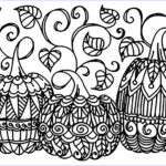 Free Printable Halloween Coloring Pages Adults Cool Photos Halloween Three Pumpkins Halloween Adult Coloring Pages