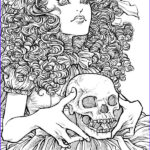 Free Printable Halloween Coloring Pages Adults Inspirational Gallery Free Printable Halloween Coloring Pages For Adults Best