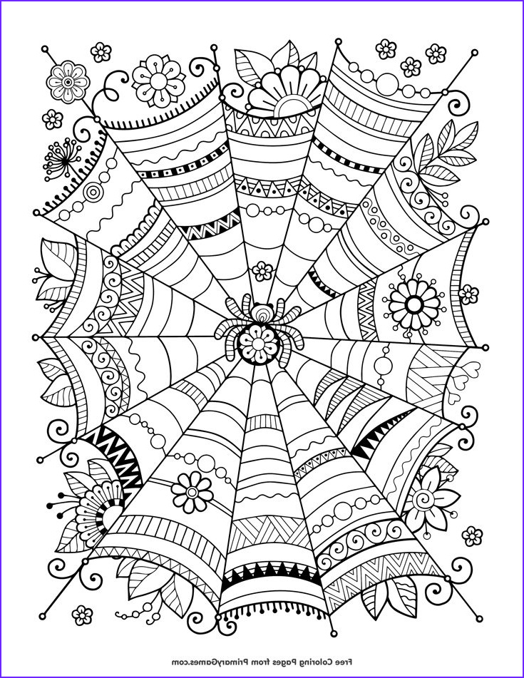 Free Printable Halloween Coloring Pages Adults Luxury Photos Halloween Coloring Pages Ebook Zentangle Spider Web