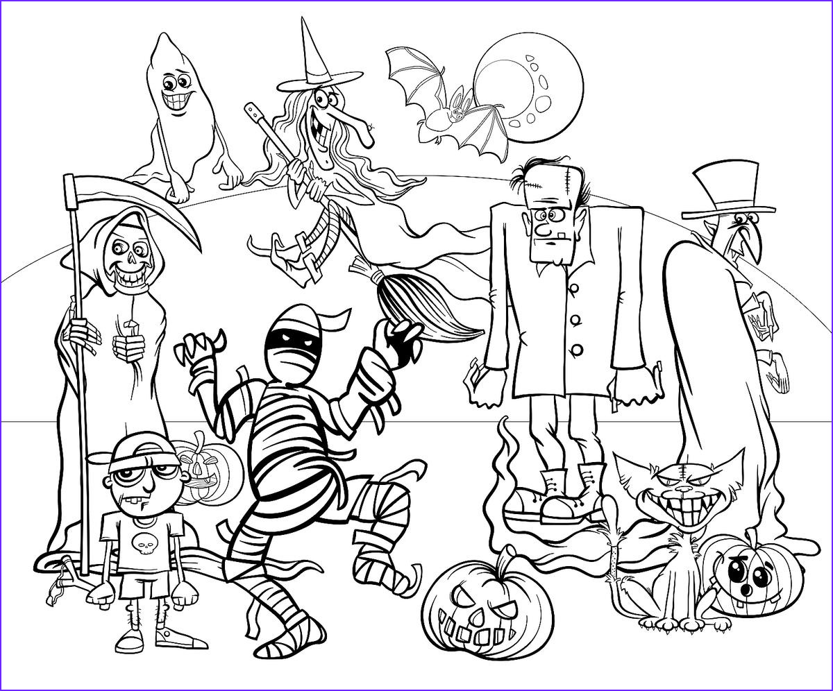 Free Printable Halloween Coloring Pages for Kids Unique Collection Halloween Coloring Pages 10 Free Spooky Printable