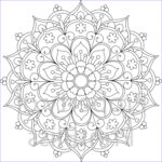 Free Printable Mandalas Coloring Pages Adults Beautiful Stock 25 Flower Mandala Printable Coloring Page by Printbliss