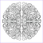 Free Printable Mandalas Coloring Pages Adults Inspirational Photos Swirling Leaves Relaxing Mandala Adult Coloring Page