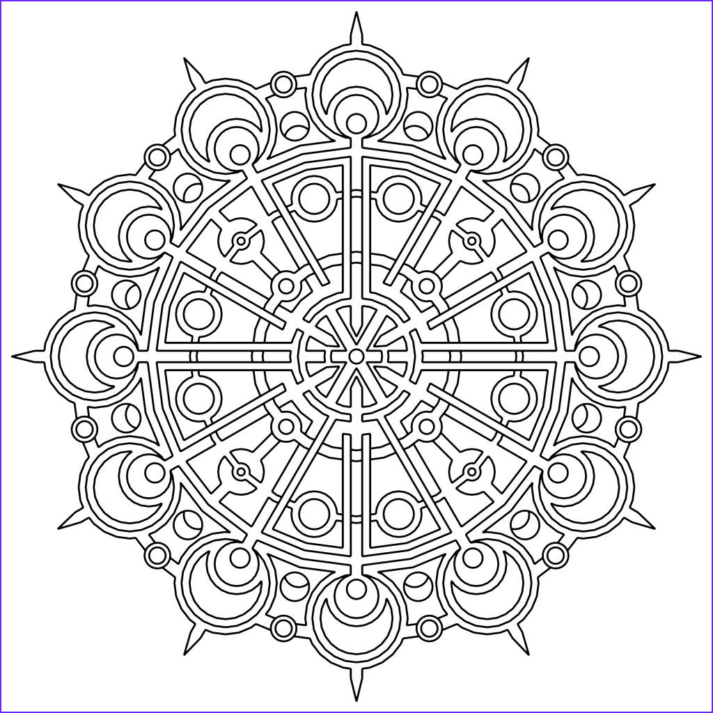 Free Printable Mandalas Coloring Pages Adults New Collection Free Printable Geometric Coloring Pages for Kids