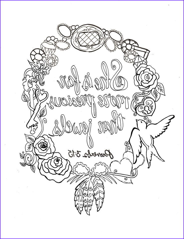 Free Printable Scripture Coloring Pages for Adults Beautiful Photos Proverbs 3 15 Printable Free 8x10 Coloring Devotions to
