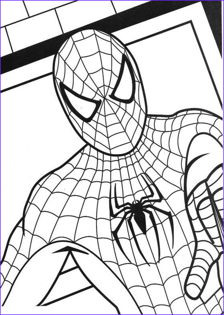 Free Printable Spiderman Coloring Pages Inspirational Collection Free Printable Spiderman Coloring Pages for Kids