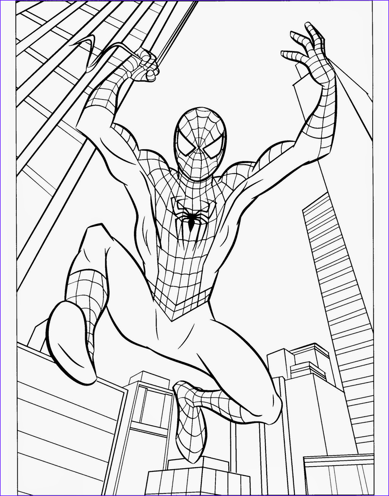 spiderman free printable coloring pages