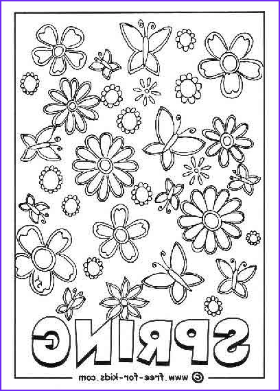 spring coloring pagestml