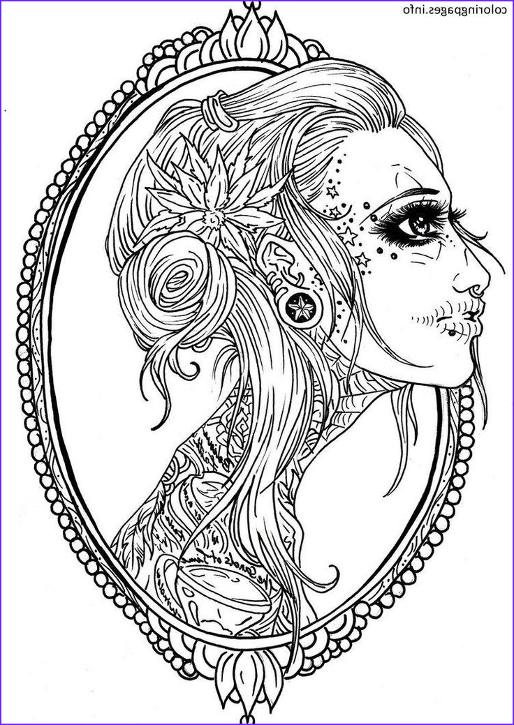 Free Printable Sugar Skull Coloring Pages Beautiful Image 16 Best Sugar Skull Coloring Pages Images On Pinterest