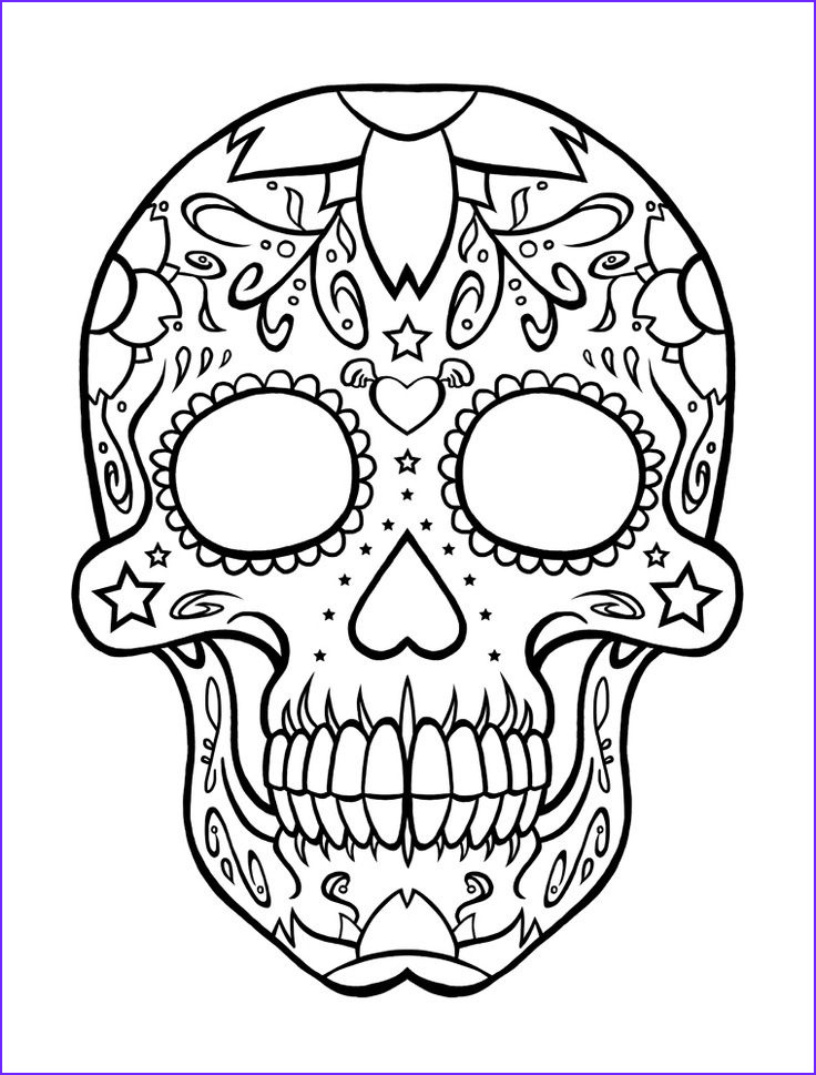 Free Printable Sugar Skull Coloring Pages Best Of Image Skull Pattern for Children