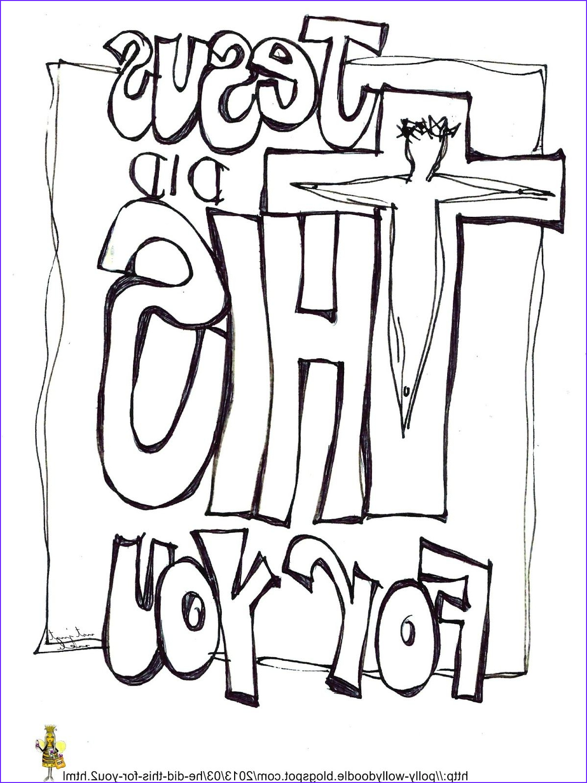Free Printable Sunday School Coloring Pages Awesome Photos Free Printable Jesus Did This for You for You and or