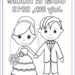 Free Printable Wedding Coloring Pages Luxury Images Personalized Printable Bride Groom Wedding Party Favor