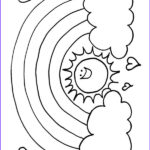 Free Rainbow Coloring Pages Awesome Images 16 Best Images About Rainbows Illustration & Craft On