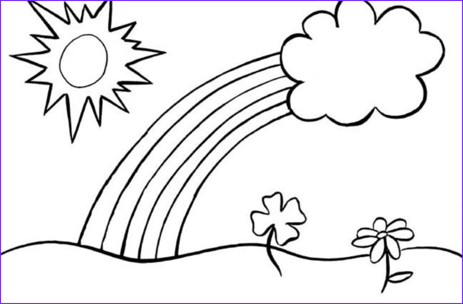 rainbow coloring pages