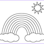 Free Rainbow Coloring Pages Unique Collection 8 Rainbow Templates – Free Pdf Documents Download
