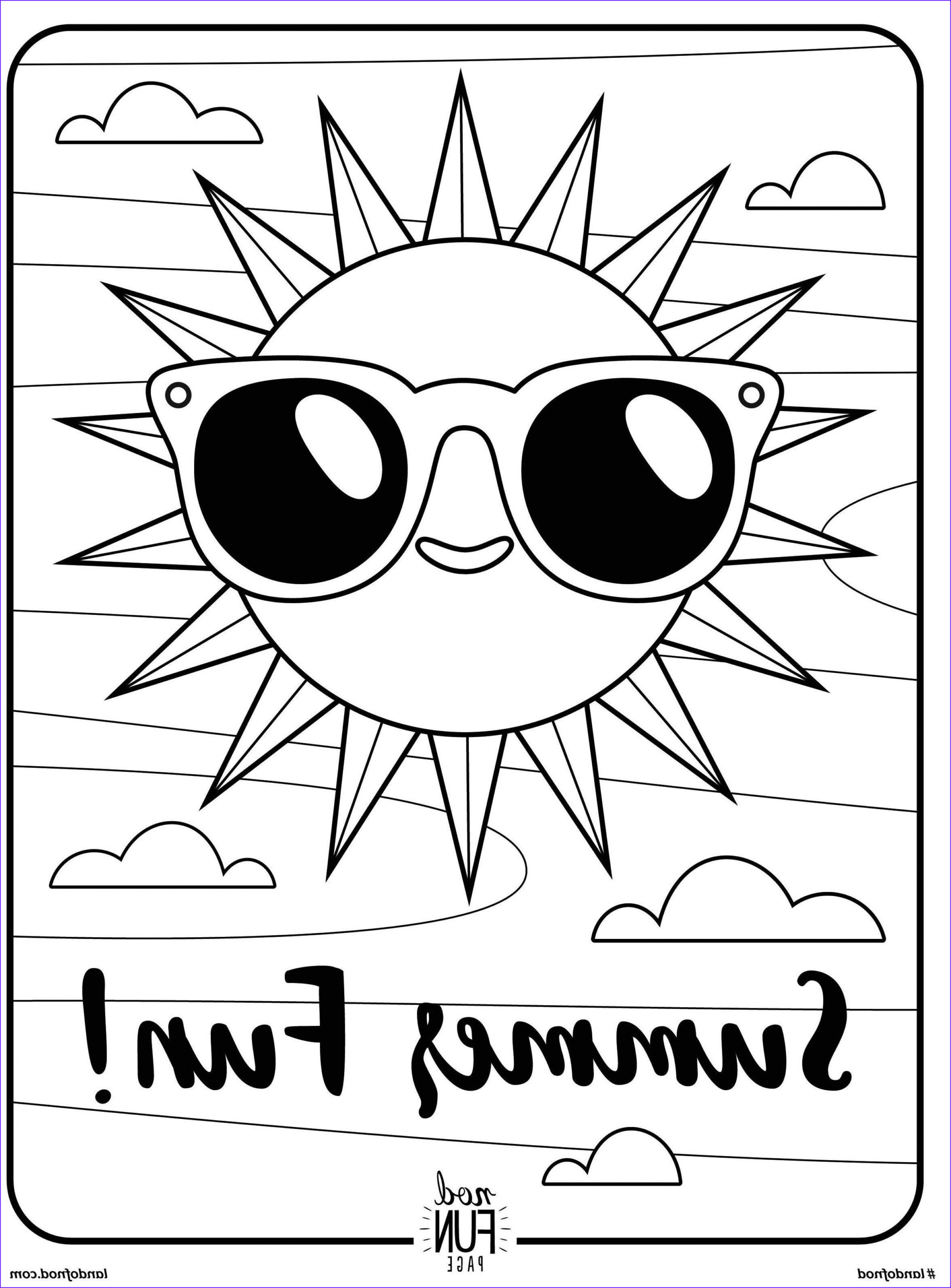 Free Summer Coloring Pages Cool Stock Free Printable Coloring Page Summer Fun Summer