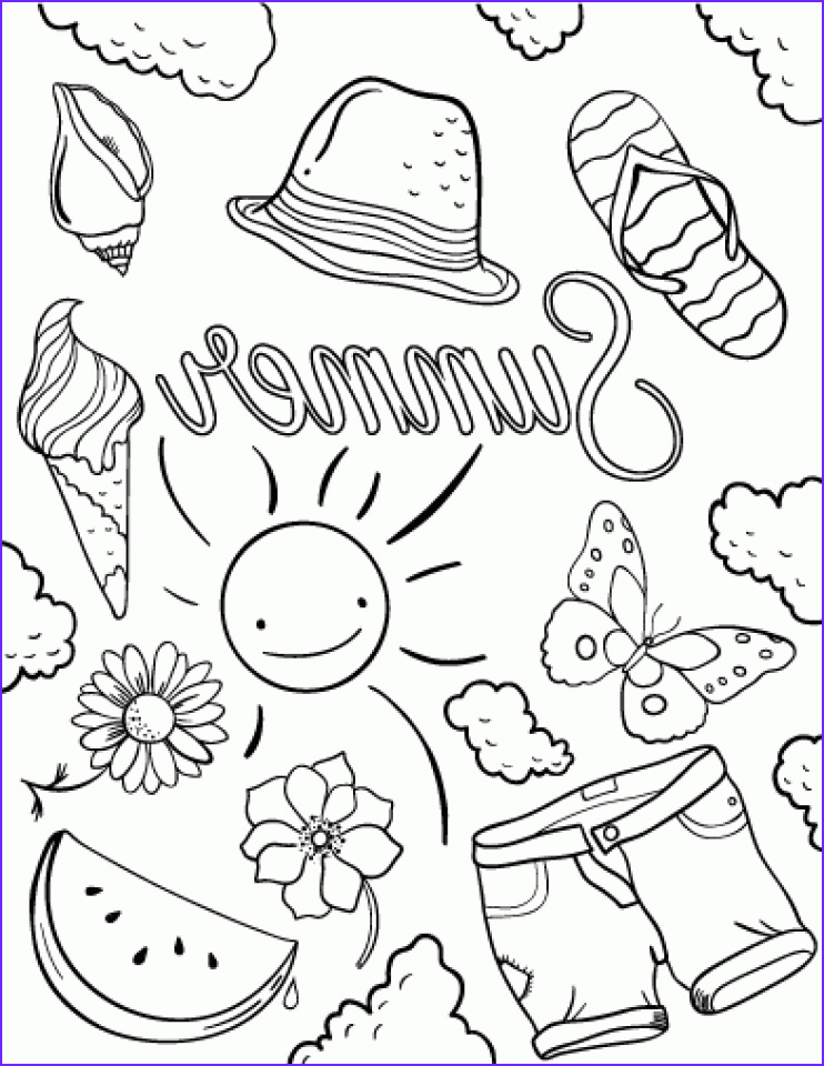 Free Summer Coloring Pages Unique Images 20 Free Printable Summer Coloring Pages