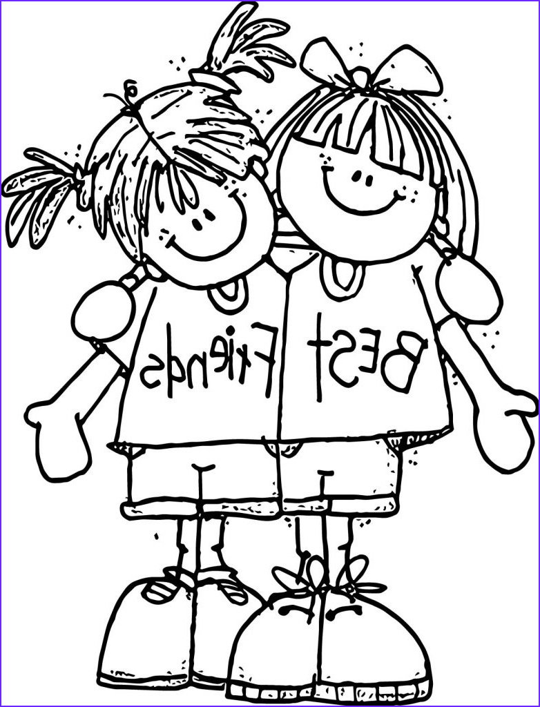 Friends Coloring Pages Awesome Photos Best Friend Coloring Pages to and Print for Free