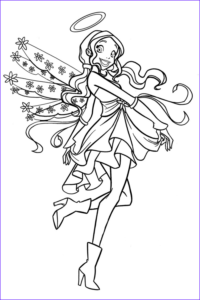 angels friends coloring pages