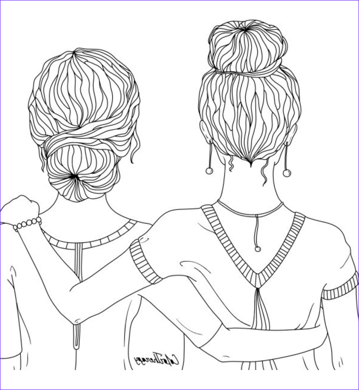 Friends Coloring Pages Luxury Photos Best Friends Coloring Page Coloring