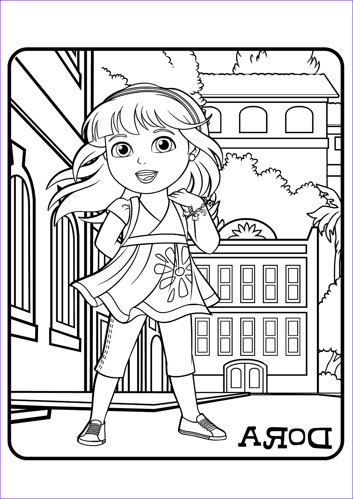 Friends Coloring Pages Luxury Photos Dora and Friends Coloring Pages to and Print for Free