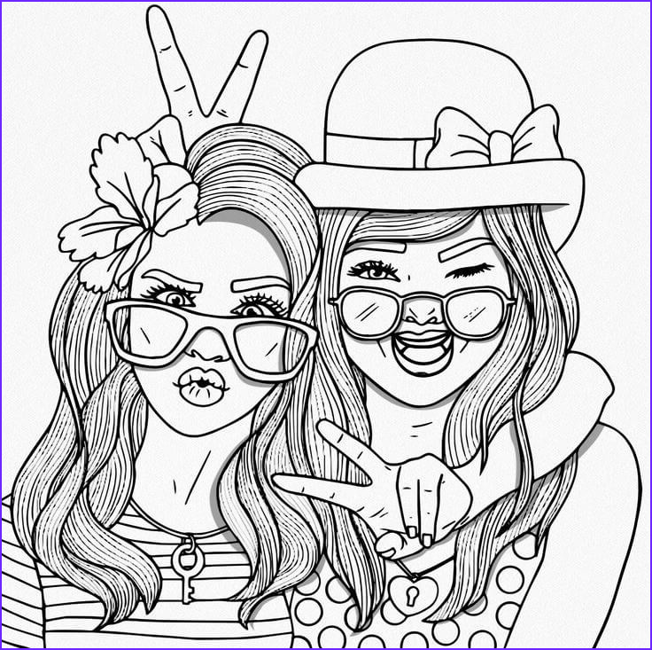 Friends Coloring Pages New Collection Bff Coloring Pages