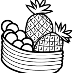 Fruit Coloring Awesome Photography Pineapple Coloring Pages To And Print For Free