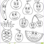Fruit Coloring Unique Image Coloring Fruit For Kids Stock Vector Illustration Of